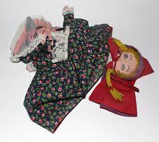 VINTAGE TOPSY TURVY CLOTH DOLL - LITTLE RED RIDING HOOD, WOLF, GRANDMA