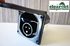 240v Electric Mains Hook-up Inlet box,Black Campervan/Motorhome Mains Inlet