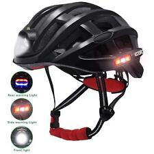 RockBros Road Bike Night Ultralight Black Helmet USB Recharge 49-59CM Helmet