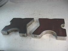 "20 TON STEEL SHOP PRESS BED PLATES H-Frame Arbor 4 notch 5"" X 5"" X-Bars  SET"