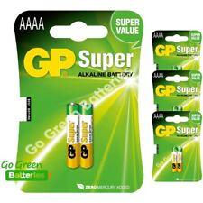 8 x GP AAAA 1.5V Alkaline Batteries MN2500 E96 GP25A LR61 25A Jabra Headset