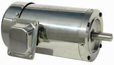 5 hp electric motor 184tc  stainless steel washdown 3 phase 3600 rpm premium