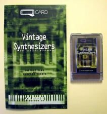 Alesis Vintage Synthesizers QCard w/Booklet, Case, LIFETIME Warranty QSR QS Card