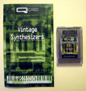 Alesis Vintage Synthesizers QCard w/Booklet, Case, LIFETIME Warranty QS Card