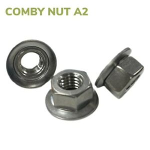 Comby Nuts With Conical Washer A2 Stainless Steel - Hexagon A2-70 Nut & Washer