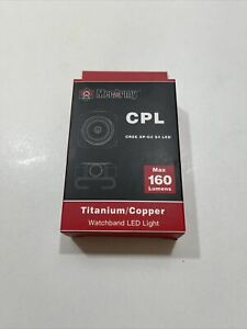 New Mecarmy CPL Titanium/Copper Watchband Led Light