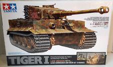 "1/35 Tamiya RARE 'Tiger I Late Version' w/8 Figures ""DISCONTINUED"" Item #25109"
