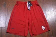 "NWT Nike Dri-Fit 10"" Baseball Training Shorts St. Louis Cardinals Men's Large L"