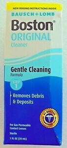 Bausch & Lomb Boston Original Cleaner 1 oz (Pack of 2) Exp. 9-1-2022 NEW Sealed
