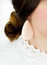 Filigree Metallic Teardrop Earrings Gold Silver Rose Black Water Drop Earrings