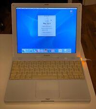 Apple iBook G4 12 Zoll 800MHZ 160GB HDD 640MB RAM + EXTRAS + OVP Sammler