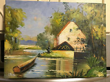 "OIL Painting-Impressionistic Landscape-12""x16"" New and stretched"