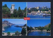 C1990's Multiviews of Rodos, Greece. Stamp/Postmark.