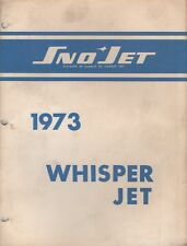1973 Sno-Jet Snowmobile Whisper Jet Model Parts Manual (686)