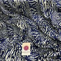 "Animal Print lightweight silky Satin fabric 58"" M88 Mtex"