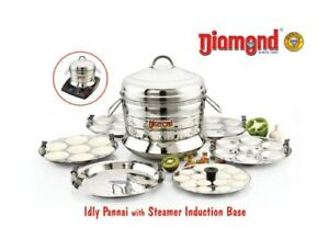Idly Pot Idli Maker Idly Panai Stainless Steel Steamer with Dhokla Free Delivery