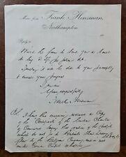 1910 Frank Hensman, Northampton Letter