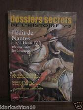 dossiers secrets DE L´HISTOIRE N°13, juillet - aout 1998