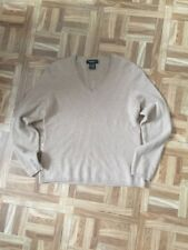 Womens L (petite) Lord And Taylor Cashmere V-neck  Pullover Sweater NWOT