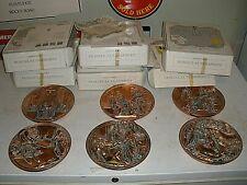 Lot of 6 Collector Plates Bradford Studio Dante Di Volteradici Copper ?