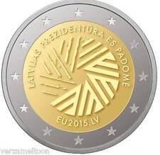 """LETLAND SPECIALE 2 EURO 2015 UNC """"Voorzitterschap EU"""""""