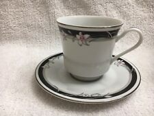 1 set NITTO China 'Kabuki' T 75 Cup & Saucer w/ Silver Trim (12 total) Brand NEW