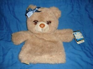 """Mommy Teddy Winks eyes open & close Vintage 1988 Applause Puppets 11"""" W/Tags"""