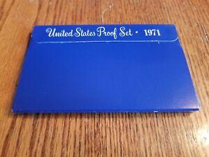 1971 U.S. COIN PROOF SET S MINT DEEP CAMEO IN ORIGINAL BOX