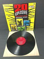 20 EXPLOSIVE ORIGINAL HITS / STARS - VARIOUS ARTISTS - K-TEL RECORDS LP - VG+