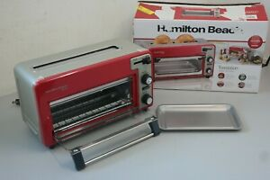 Hamilton Beach Toastation® 2 Slice Toaster and Countertop Toaster Oven RED (18D)