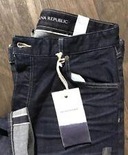 NWT $168 Banana Republic Dark WHITE OAK Cone Denim Selvedge Jeans 34 X 32 SLIM
