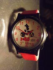 Womens Vintage Disney Lorus Mickey Mouse Watch (Movie Reel Seconds)Rare-VHTF-New