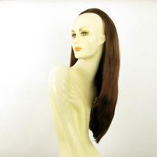 DT Half wig HairPiece extensions long straight dark brown copper 24.4 REF :19/31