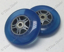 100mm BLUE Replacement Wheels with ABEC-9 Bearings for Titan Pro & Razor Scooter
