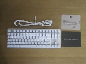 Razer Blackwidow Lite Mechanical Keyboard Mercury 80% TKL - Mint Condition