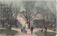 c1910 ST JOHN New Brunswick Canada Postcard KING SQUARE People Fountain Carriage