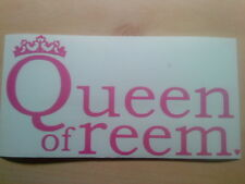 queen of reem The only way is essex girls girly  sticker for cars, mirrors,walls