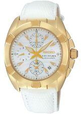 Seiko SNDY22 SNDY22P1 Velatura Ladies Diamond Watch White Leather RRP $1300.00