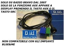 MP3 AUX iPod Iphone galaxy S2 S3 ingresso SOLO AUDIO FIAT BRAVO 2007 a pannello