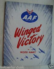 "Army Air Force Program ""Winged Victory"" By Moss Hart"