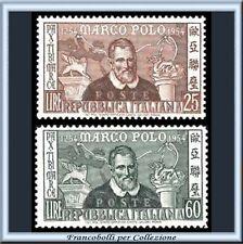 1954 Italia Repubblica Marco Polo n. 741/742 **