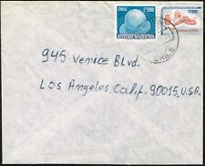 382 CHILE TO US COVER 1976 SOCCER WC STAMP SANTIAGO - BURBANK, CA