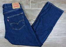 Levis 501 Mens Straight Leg Button Fly Jeans Dark Wash 005010115 Sz W33 L30