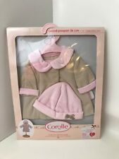 """Corolle Christmas Tales Coat for 14"""" Baby Doll Designed in France"""