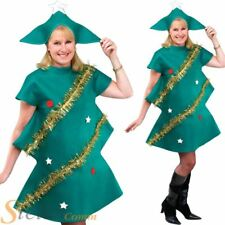 Adult Christmas Tree Xmas Festive Fancy Dress Costume Mens Ladies Unisex Outfit