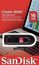 SanDisk 16GB Cruzer GLIDE USB Flash Pen Drive SDCZ60-016G-B35 Sealed New