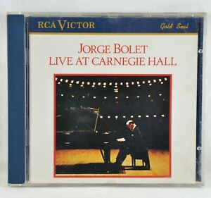 JORGE BOLET - Live At The Carnegie Hall - CD RCA Victor Gold Seal 1988