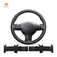 Black PU Leather Steering Wheel Cover for Toyota Corolla RAV4 Caldina Scion tC