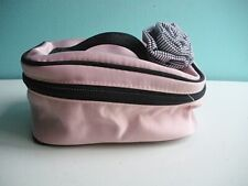 Victoria Secret small Makeup Bag with striped flower detail