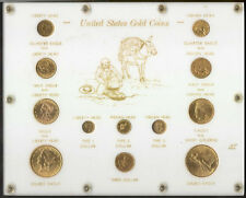 12pc US Gold Coin Type Set $20+$10+$5+$3+$2.5+$1 Liberty Indian St Gaudens Eagle